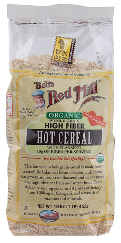 Bobs Red Mill Organic Whole Grain High Fiber Hot Cereal 16 Oz (Pack of 4)