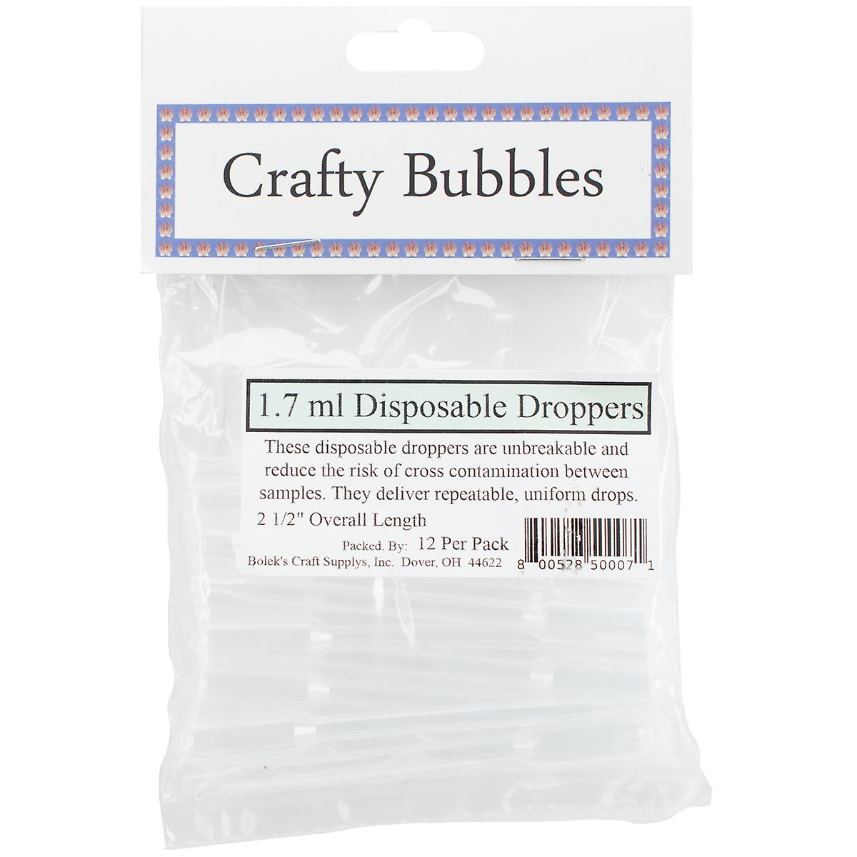Boleks 33408 1.7 ml. Disposable Droppers - Pack of 12