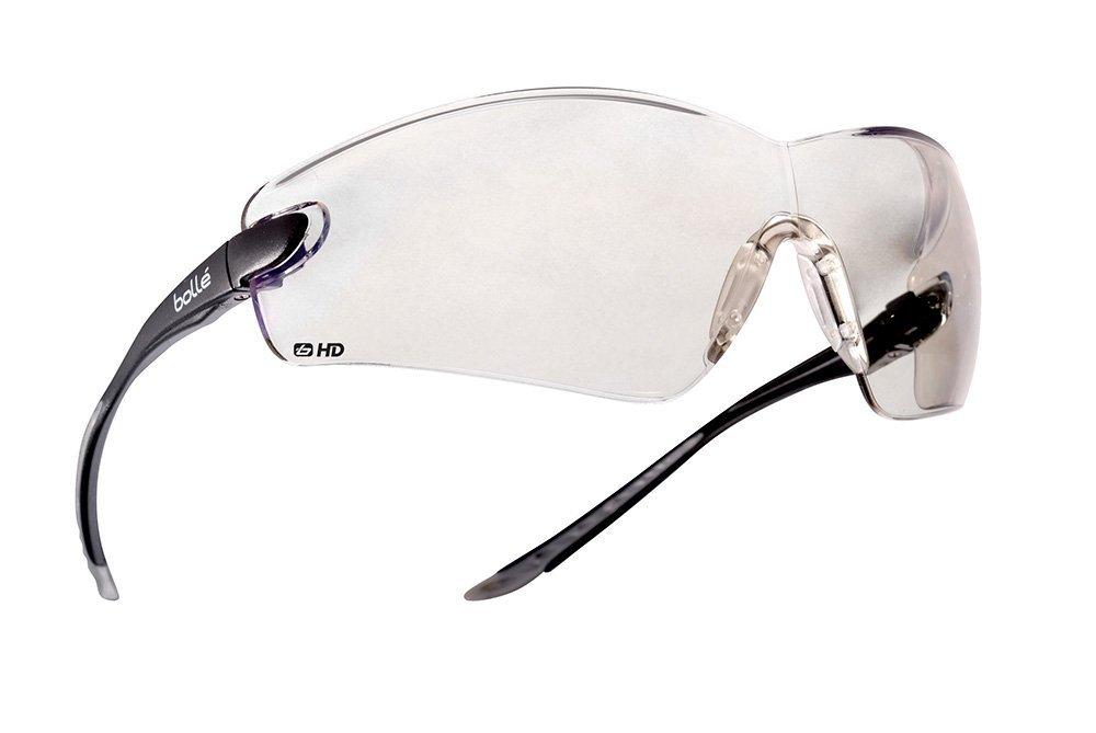 Bolle Safety 286-40040 Cobra PC HD Hydrophobic Safety Glasses Black& Grey