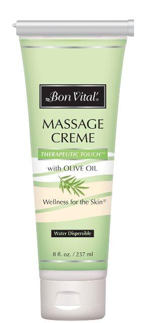 Bon Vital BON1268OZ Therapeutic Touch Massage Creme Refillable Tube 8 oz