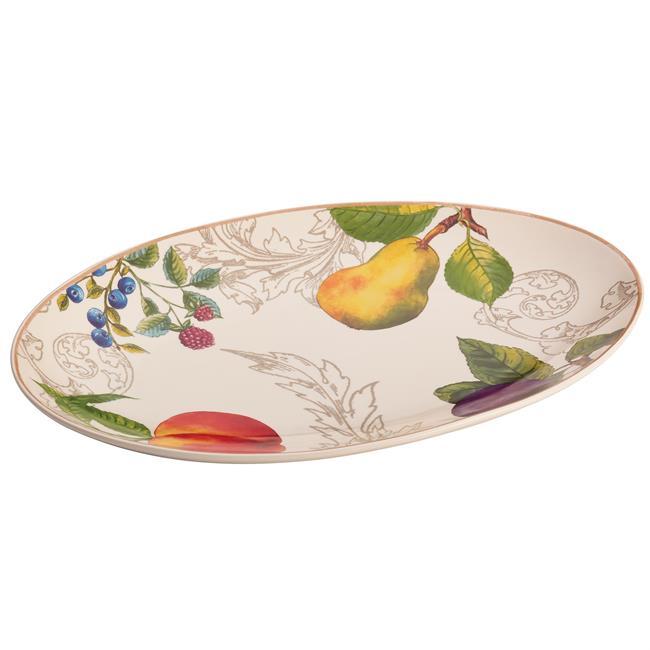 BonJour 54183 Stoneware 8.75 X 13 in. Oval Platter