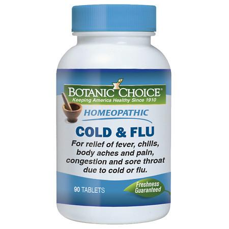 Botanic Choice Homeopathic Cold and Flu Formula, Tablets - 90 ea