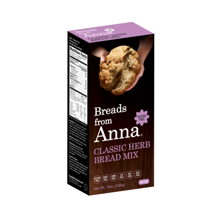 Breads from Anna 232166 19 oz Classic Herb Bread Mix
