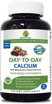 Briofood 614605 Day-To-Day Calcium - 90 Tablets