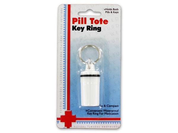 Bulk Buys GR042-36 Pill Tote Key Ring