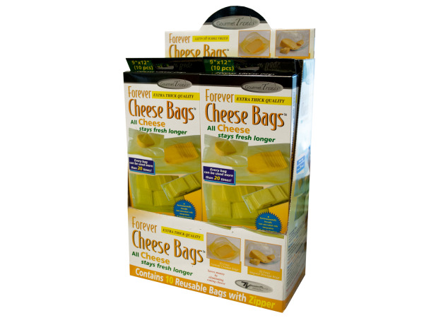 Bulk Buys HW769-10 Forever Cheese Bags