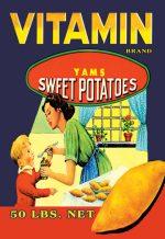 Buy Enlarge 0-587-12876-3C12X18 Vitamin Brand Yams- Canvas Size C12X18