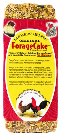 C And S Farmers Helpers Original Foragecake Supplement 13 Ounce Poultry CS08305