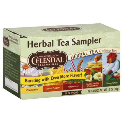CELESTIAL SEASONINGS TEA HERB SAMPLER-18 BG -Pack of 6