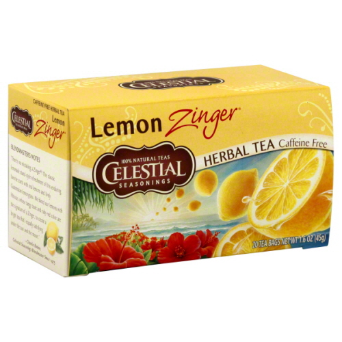 CELESTIAL SEASONINGS TEA ZNGR LEMON-20 BG -Pack of 6