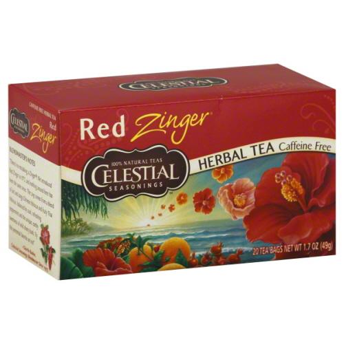 CELESTIAL SEASONINGS TEA ZNGR RED-20 BG -Pack of 6