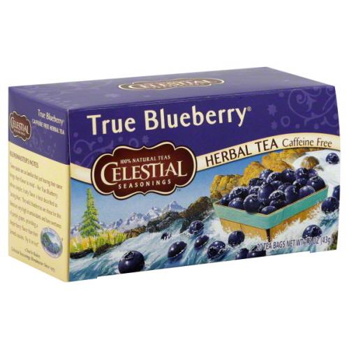 CELESTIAL SEASONINGS TEA ZNGR TRUE BLUEBRY-20 BG -Pack of 6