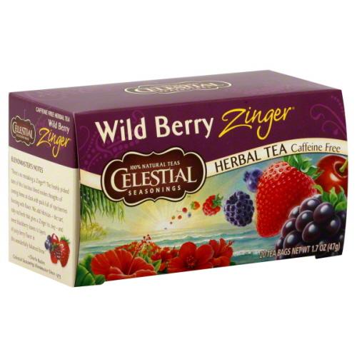 CELESTIAL SEASONINGS TEA ZNGR WLDBRY-20 BG -Pack of 6