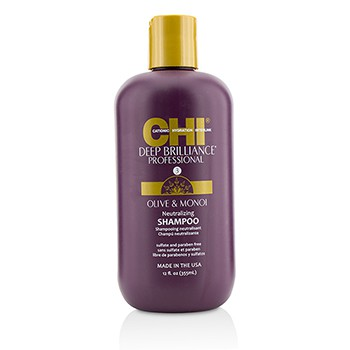 CHI 213022 12 oz Deep Brilliance Olive & Monoi Neutralizing Shampoo