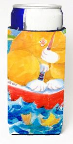 Carolines Treasures 6014MUK Big Orange Tabby Fishing Michelob Ultra s For Slim Cans - 12 oz.