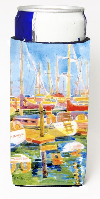 Carolines Treasures 6019MUK Boats At The Harbour Michelob Ultra s For Slim Cans - 12 oz.