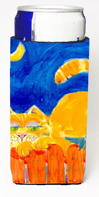 Carolines Treasures 6020MUK Big Orange Tabby Cat On The Fence Michelob Ultra s For Slim Cans - 12 oz.