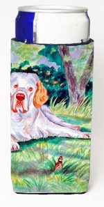 Carolines Treasures 7113MUK Clumber Spaniel Michelob Ultra bottle sleeves For Slim Cans - 12 oz.