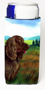 Carolines Treasures 7122MUK Sussex Spaniel Michelob Ultra bottle sleeves For Slim Cans - 12 oz.