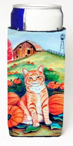 Carolines Treasures 7123MUK Tabby Cat In Pumpins Michelob Ultra bottle sleeves For Slim Cans - 12 oz.