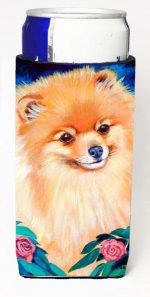 Carolines Treasures 7165MUK Pomeranian Michelob Ultra bottle sleeves For Slim Cans - 12 oz.