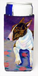 Carolines Treasures 7287MUK Bull Terrier Michelob Ultra bottle sleeves For Slim Cans - 12 Oz.