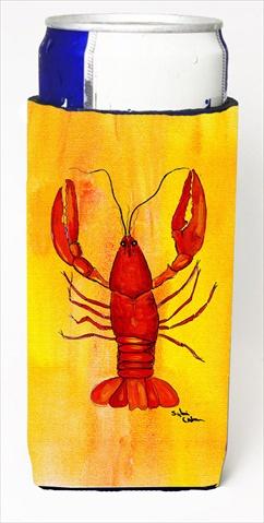 Carolines Treasures 8044MUK Crawfish Michelob Ultra bottle sleeves For Slim Cans - 12 Oz.