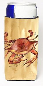 Carolines Treasures 8154MUK Cooked Crab Sandy Beach Michelob Ultra s For Slim Cans - 12 oz.