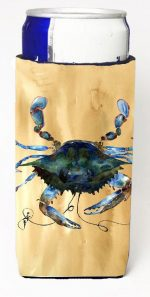 Carolines Treasures 8159MUK Blue Male Crab Sandy Beach Michelob Ultra s For Slim Cans - 12 oz.