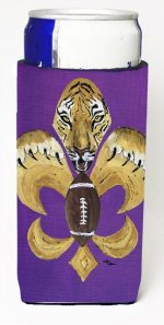 Carolines Treasures 8205MUK Tiger Football Fleur De Lis Michelob Ultra s For Slim Cans - 12 oz.