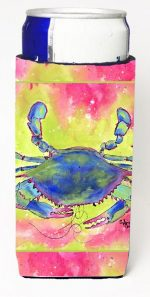 Carolines Treasures 8343MUK Blue Crab Bright Pink And Green Michelob Ultra s For Slim Cans - 12 oz.