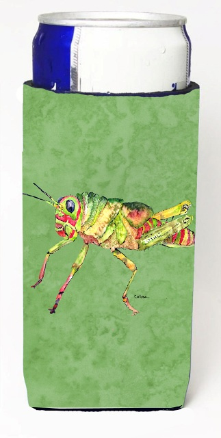 Carolines Treasures 8848MUK Grasshopper On Avacado Michelob Ultra bottle sleeves For Slim Cans - 12 oz.