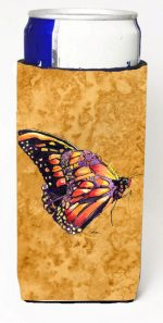 Carolines Treasures 8858MUK Butterfly On Gold Michelob Ultra bottle sleeves For Slim Cans - 12 oz.