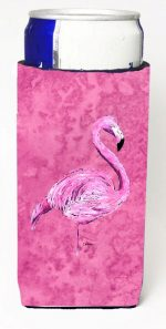 Carolines Treasures 8875MUK Flamingo On Pink Michelob Ultra bottle sleeves For Slim Cans - 12 oz.