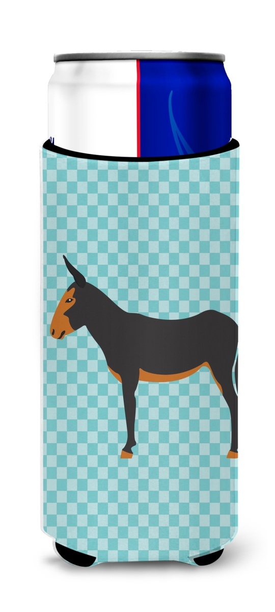 Carolines Treasures BB8029MUK Catalan Donkey Blue Check Michelob Ultra Hugger for Slim Cans