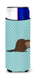 Carolines Treasures BB8047MUK Eurasian Beaver Blue Check Michelob Ultra Hugger for Slim Cans