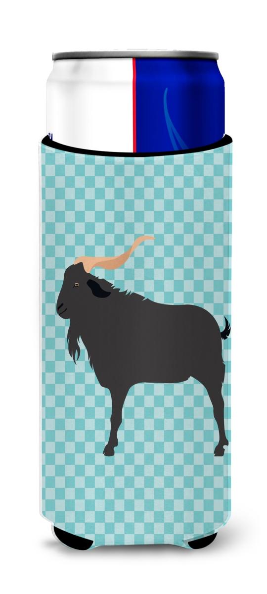 Carolines Treasures BB8056MUK Verata Goat Blue Check Michelob Ultra Hugger for Slim Cans