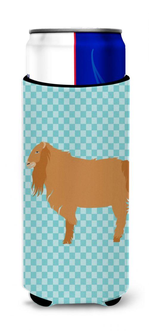 Carolines Treasures BB8059MUK American Lamancha Goat Blue Check Michelob Ultra Hugger for Slim Cans