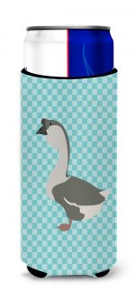Carolines Treasures BB8073MUK African Goose Blue Check Michelob Ultra Hugger for Slim Cans