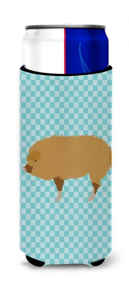 Carolines Treasures BB8108MUK Hungarian Mangalica Pig Blue Check Michelob Ultra Hugger for Slim Cans