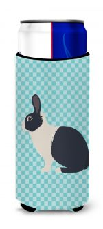 Carolines Treasures BB8132MUK Dutch Rabbit Blue Check Michelob Ultra Hugger for Slim Cans