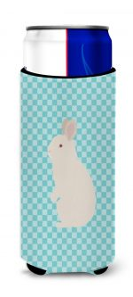 Carolines Treasures BB8139MUK New Zealand White Rabbit Blue Check Michelob Ultra Hugger for Slim Cans