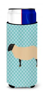 Carolines Treasures BB8146MUK Suffolk Sheep Blue Check Michelob Ultra Hugger for Slim Cans
