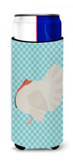 Carolines Treasures BB8157MUK White Holland Turkey Blue Check Michelob Ultra Hugger for slim