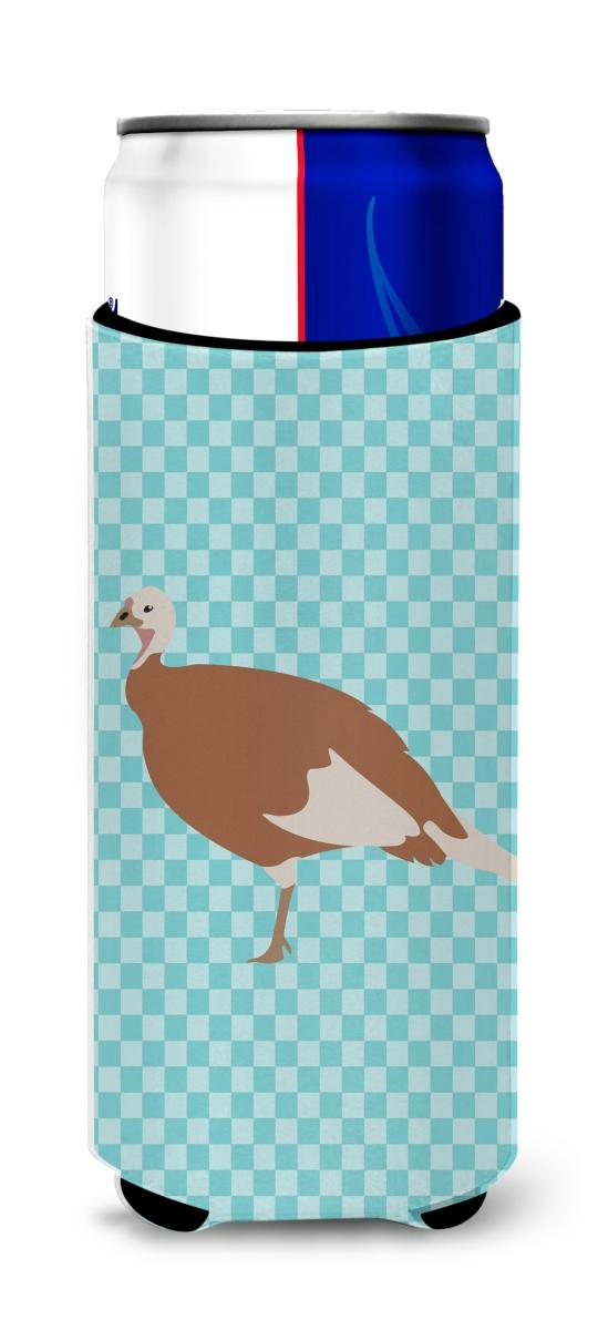 Carolines Treasures BB8158MUK Jersey Buff Turkey Hen Blue Check Michelob Ultra Hugger for slim