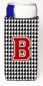Carolines Treasures CJ1021-BMUK Houndstooth Monogram Letter B Michelob Ultra s For Slim Cans
