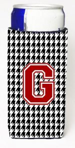 Carolines Treasures CJ1021-GMUK Monogram - Houndstooth Letter G Michelob Ultra s For Slim Cans