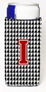Carolines Treasures CJ1021-IMUK Monogram - Houndstooth Letter I Michelob Ultra s For Slim Cans