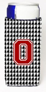Carolines Treasures CJ1021-OMUK Houndstooth Letter O Michelob Ultra s For Slim Cans