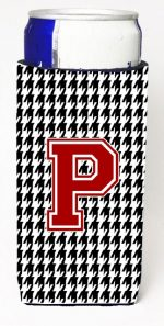 Carolines Treasures CJ1021-PMUK Houndstooth Monogram Letter P Michelob Ultra s For Slim Cans
